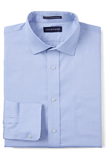 Men's Spread Collar Easy-iron Pinpoint Shirt