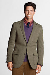 Men's Tailored Fit Cotton Herringbone Blazer