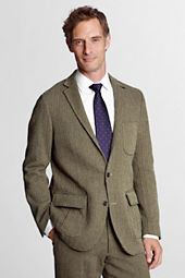 Men's Traditional Fit Cotton Herringbone Blazer