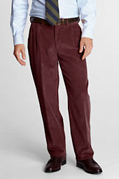 Men's Pleat Front Comfort Waist 10-wale Corduroy Trousers