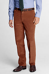 Men's Plain Front Tailored Fit 10-wale Corduroy Trousers