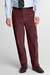 Men's Plain Front Traditional Fit 10-wale Corduroy Trousers