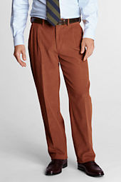 Men's Pleat Front Traditional Fit 10-wale Corduroy Trousers