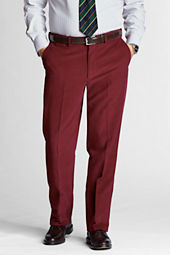 Men's Plain Front Comfort Waist Finewale Trousers