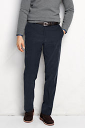 Men's Plain Front Tailored Fit 18-wale Corduroy Trousers