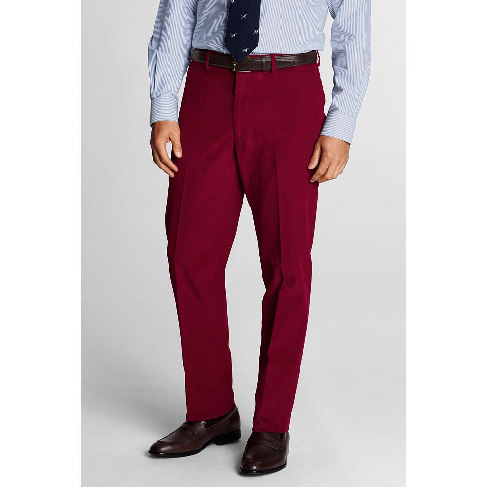 Lands' End Men's Plain Front Tailored Fit 18-wale Corduroy Dress Pants at Sears.com
