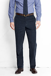 Men's Plain Front Traditional Fit 18-wale Corduroy Trousers