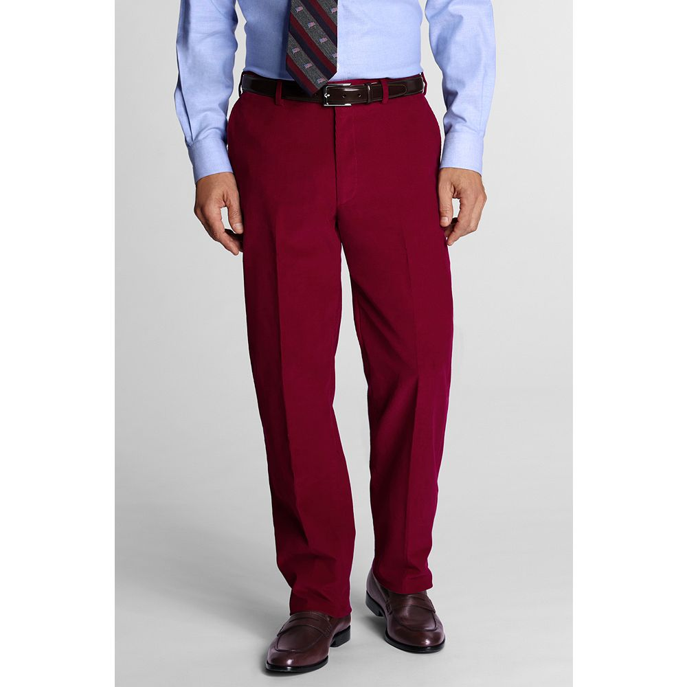 Lands' End Men's Plain Front Traditional Fit 18-wale Corduroy Dress Pants at Sears.com