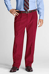 Men's Pleat Front Traditional Fit 18-wale Corduroy Trousers