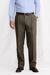 Men's Pleat Front Comfort Waist SuperNatural™ Wool  Trousers