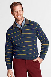 Men's Meridian Cotton Wool Stripe Rugby Sweater