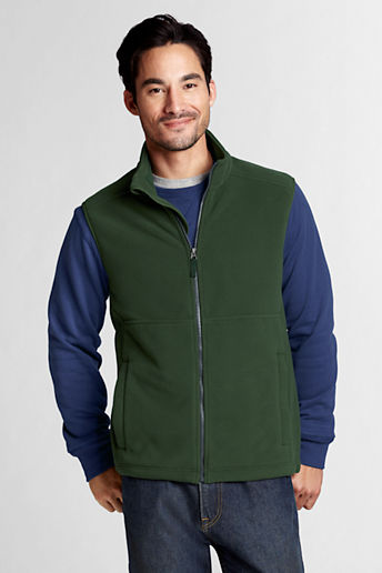 Men's Regular Polartec Aircore 200 Fleece Vest - Spinach Leaf, XL