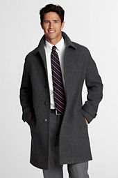 Men's Pattern Wool Topcoat