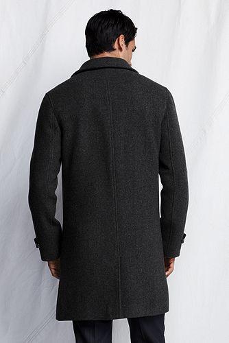 Herringbone Wool Topcoat 457880: Dark Charcoal