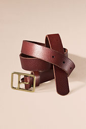 Women's Distressed Leather Military Belt