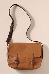 Women's Vintage Leather Messenger Bag
