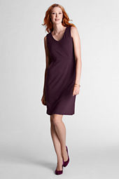 Women's Sleeveless Ponté Double V-neck Dress