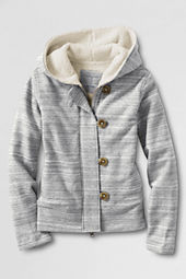 Little Girls' French Terry Sherpa Lined Hoodie