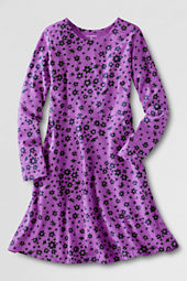 Girls' Long Sleeve Knit A-line Dress