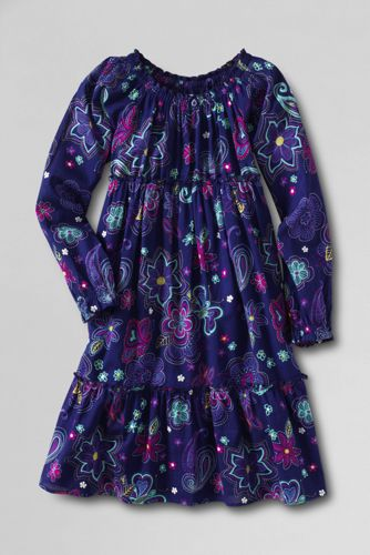 Little Girls' Ava Tiered Dress