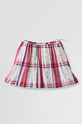 Girls' Side-tie Pattern Gathered Skirt