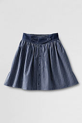Girls' Woven Button-front Skort