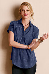 Women's Silk Polka Dot Shirt