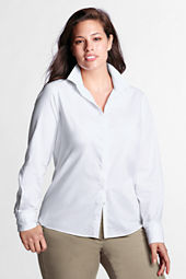 Women's Long Sleeve No Iron Hidden Placket Shirt