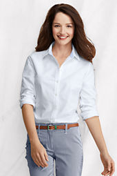 Women's Long Sleeve Washed Oxford Shirt