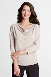 Women's 3/4-sleeve Starfish French Terry Drapeneck