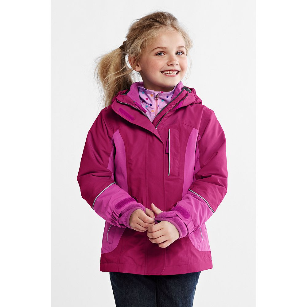 Lands' End Girls' Squall 3-in-1 Waterproof Parka at Sears.com