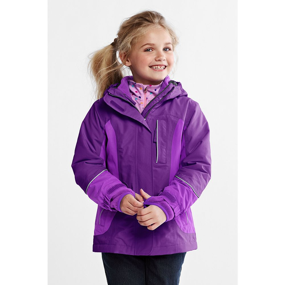 Lands' End Toddler Girls' Squall 3-in-1 Waterproof Parka at Sears.com