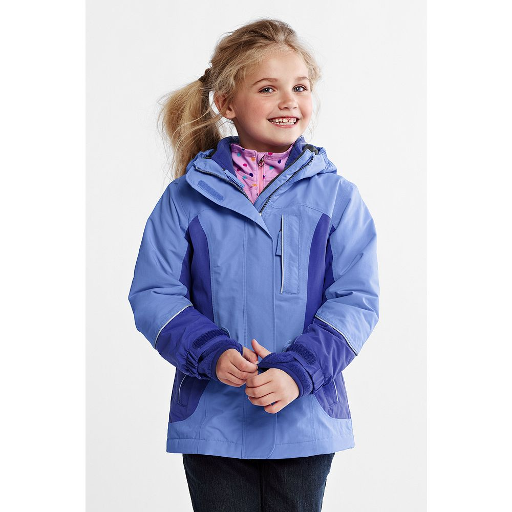 Lands' End Little Girls' Squall 3-in-1 Waterproof Parka at Sears.com
