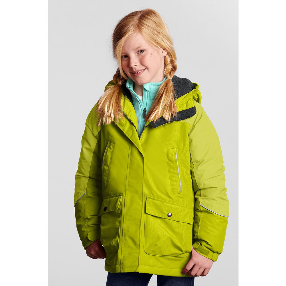 Lands' End Toddler Girls Squall Parka, 3T, Bright Lime
