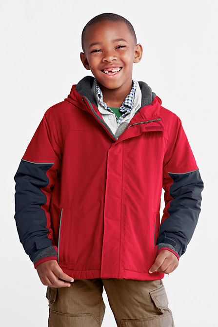 Lands End Boys Squall Waterproof Jacket