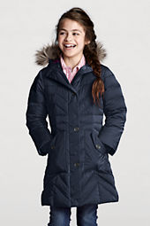 Girls' Chevron Warmest Down Coat