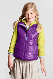 Girls' Embroidered Puffer Vest