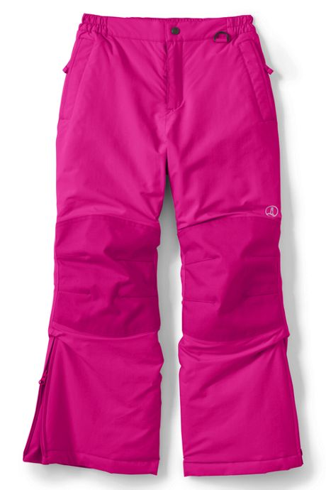 Girls Slim Squall Waterproof Iron Knee Winter Snow Pants