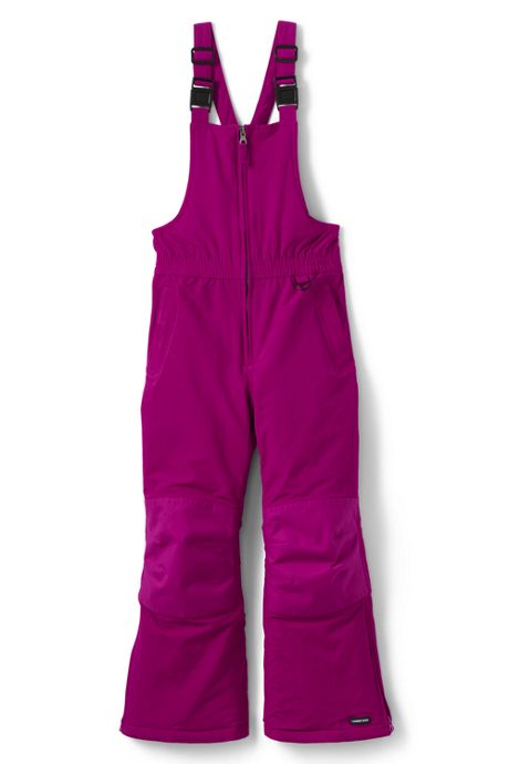 Girls Slim Squall Waterproof Iron Knee Winter Snow Bibs