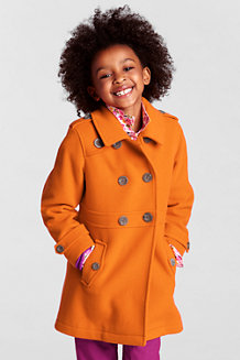 Girls' Wool Pea Coat