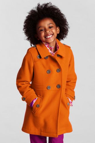 Little Girls' Wool Pea Coat