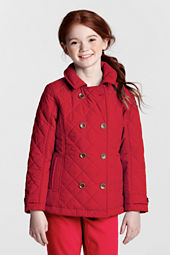 Girls' Quilted Insulated Pea Coat