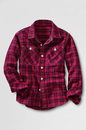 Boys' Rugged Twill Flannel Shirt
