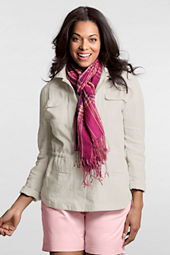 Women's Long Sleeve Linen Jacket
