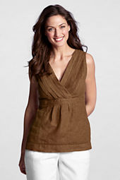 Women's Linen Pintuck Shell