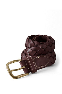 Boys' Leather Braided Belt
