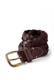 Boys Leather Braided Belt