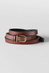 Girls' Leather Tie Belt