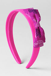 Girls' Print Wide Bow Headband