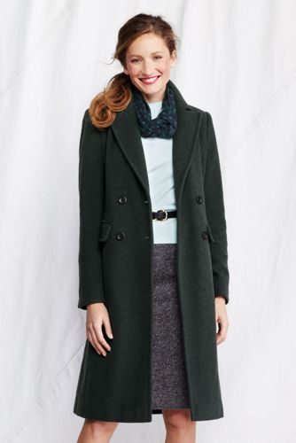 Women's Regular Luxe Wool Blend Double-breasted Coat